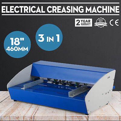 """3-in-1 New 18"""" 460mm electrical creasing machine  Perforator paper Best Price"""