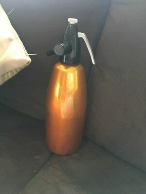 Vintage Retro Soda Syphon Anodised Gold- LEHEL Made in Hungary Collectable