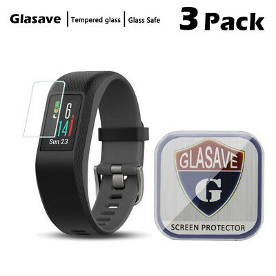 [3-Pack] Glasave Tempered Glass Screen Protector Film For Garmin Vivosport