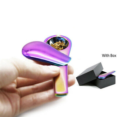Rainbow Portable Spoon Smoking Pipe Magnetic Tobacco Accessories w/ Gift box