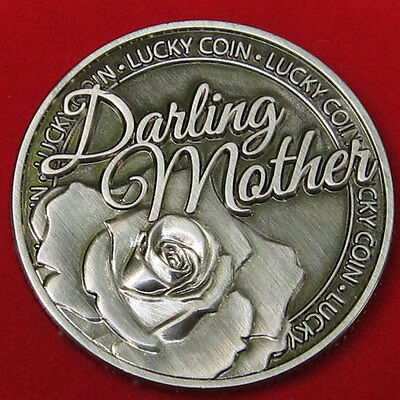 DARLING MOTHER LUCKY COIN, Beautiful Gift free ship