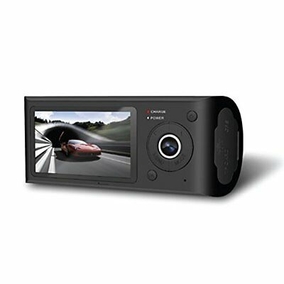 HD Vehicle Dash Cam - Dual Camera DVR Video Recording System w/ GPS Nav Logger