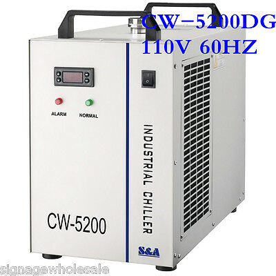 110V 60HZ CW-5200DG Industrial Water Chiller for Single 130/150W CO2 Laser Tube