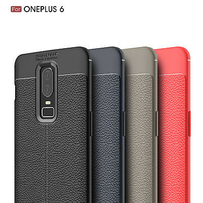 Dooqi Ultra Thin Luxury PU Leather Soft TPU Shockproof Case Cover For OnePlus 6
