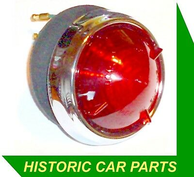 1 x ROUND REAR RED STOP/TAIL LIGHT to replace Lucas L539 from 1950-70s