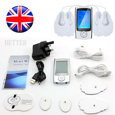 Body Pulse Massager 16 Modes Tens Unit Rechargeable Electric Pain Relief Machine
