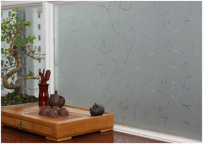 Premium Floral Elegant Stained Glass Decorative Vinyl Privacy Static Window Film