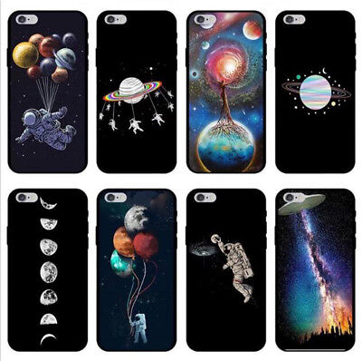 Phone case for iphone 6 6s 7 8 plus X Black starry sky Space Soft Tpu cover