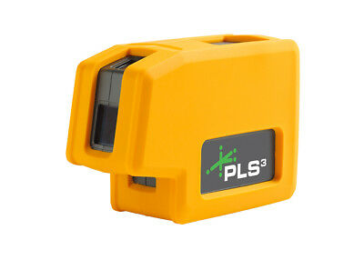 NEW PLS3 GREEN BEAM Self-Leveling 3-Point Laser Level NIB