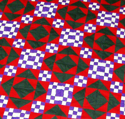 Incredible Patchwork - Amish styled unique pattern - QUILT TOP ( of unknown de