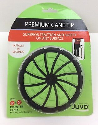 "New Juvo Premium Cane Tip for 3/4"" and 7/8"" Canes Traction for Safety"