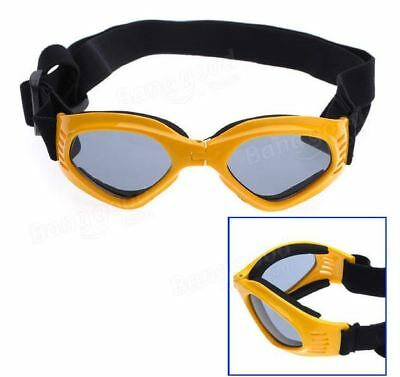 Dog Folding UV Sun Glasses Goggles Protection In Yellow