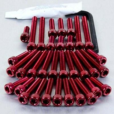 Pro-Bolt Aluminium Engine Bolt Kit - Red ESU196R Suzuki GSF1250 Bandit 07-09