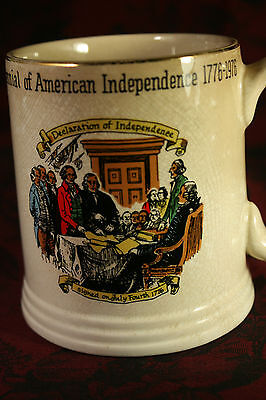 Vntg Large Mug Lord Nelson Bicentennial USA Independence 1776-1976 England