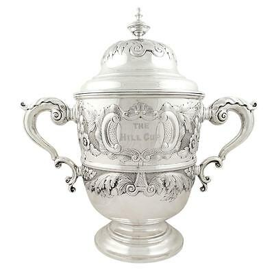 Huge Antique Victorian Sterling Silver Cup/trophy 1892 -The Hill Cup Horse Race