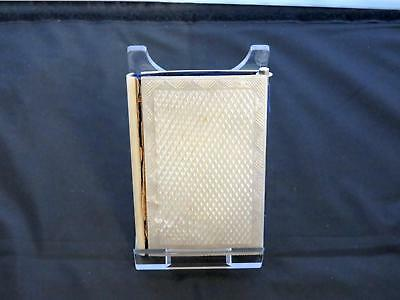 Antique Victorian Mother-Of-Pearl Card Case, Diamond Shape Pattern, 19th Century