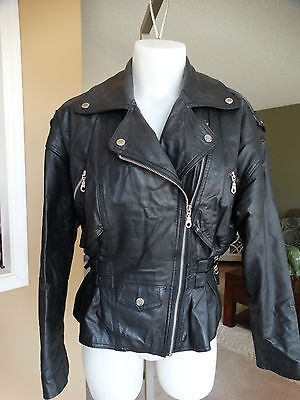 Vintage G Iii Leather Moto Jacket Small