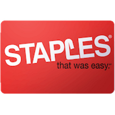 Staples Gift Card $25 Value, Only $24.00! Free Shipping!