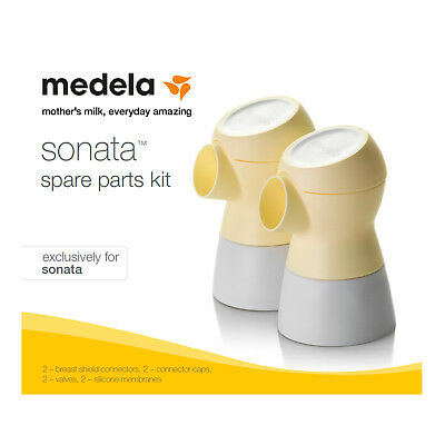 Medela Sonata Spare Parts Kit #68054 New Sealed for Double Breastpump Connectors