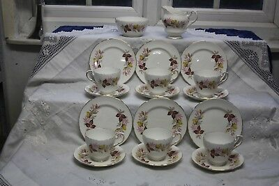 Pretty Vintage Royal Standard China Tea Set 20 Pieces Yellow Rose