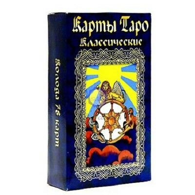 New Modern Russian Cards Deck Universal Classic Tarot 78 Collection Deluxe Book