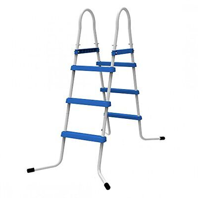 Jilong 3 niveles Pool Escalera para piscina pared alturas hasta 109 cm, azul,