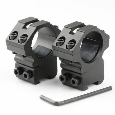 """2pcs Hunting Scope Mount Ring 25.4mm 1"""" Dovetail Mount 11mm Rail For 22 cal"""