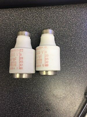 Original Diazed 500 V, Ceramic Bottle Fuses (Lot of 37, includes  4-35 amp)