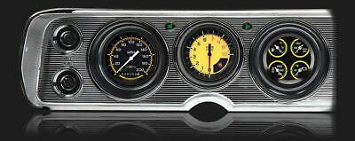 1964 - 1965 Chevy Chevelle Direct Fit Gauge Auto Cross Yellow CV64AXY