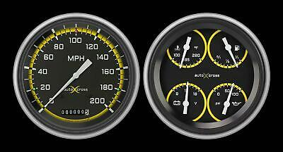1951-1952 Chevrolet Chevy Direct Fit Gauge Auto Cross Yellow CH51AXY52