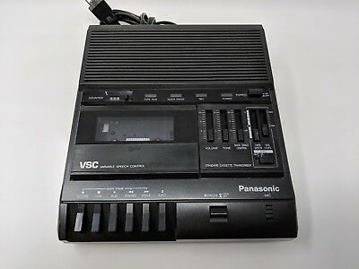 Panasonic Rr-830 Standard Cassette Transcriber Dictaphone Recorder Tested Works