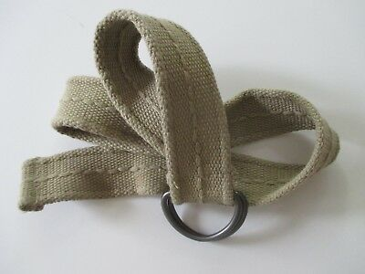 "Boys Woven Belt Khaki 29"" D Ring Buckle"
