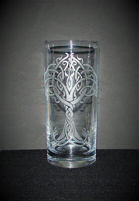Tree of Life etched Hi Ball glass, personalised, birthday, wedding, Gifts.