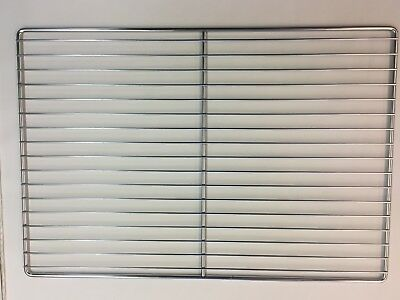 "Flat Wire Commercial Oven Rack, Chrome Plated, 26"" x 17.75"""