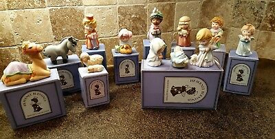 Avon Heavenly Blessings Nativity Collection 12 Piece Lot In Boxes 1986-1988