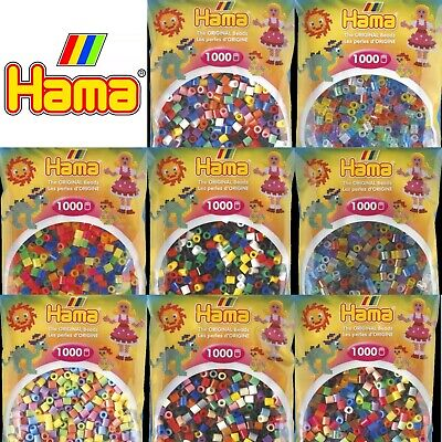 Hama Beads 1000 Pack for Pegboards Childrens Craft Mixed Colours UK SUPPLIER