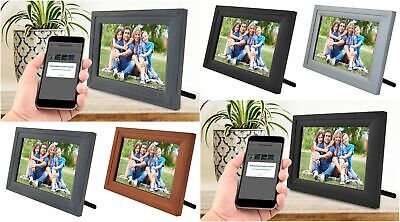 """iCozy Digital Touch-Screen 10"""" Picture Frame with Wi-Fi - All Colors - SLRFB"""