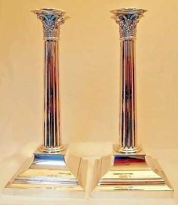 A tall pair of sterling silver candlesticks, Tiffany & Co., New York c.1917-47