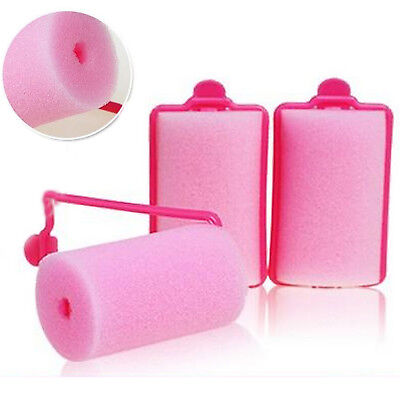 12 Pcs Magic Sponge Foam Cushion Hair Styling Roller Curler Twist Tool Witty UP
