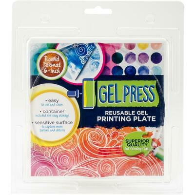 Gel Press Reusable Printing Plate 6 Inch Round Format Circle