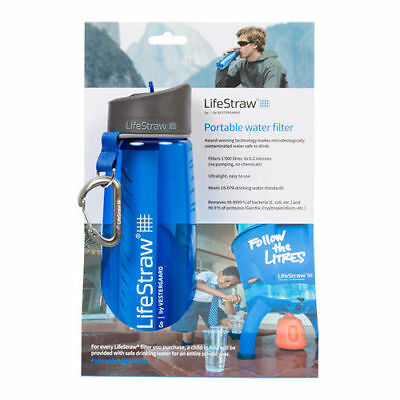 Genuine Lifestraw Go Bottle Life Straw Portable Outdoor Water Filter Bpa Free