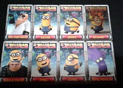 Dave and Buster's Despicable Me Minion's Jelly Lab Card Lot Incl. Evil Minion