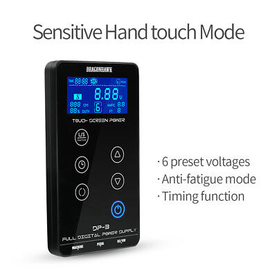 High Quality Tattoo Power Supply Touch Screen Intelligent Digital LCD Dual