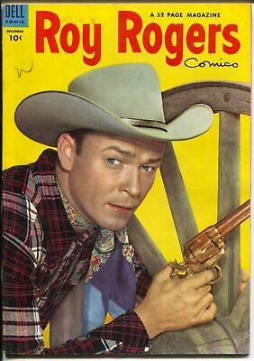 Roy Rogers #72 1953-Dell-photo cover-western stories-VF