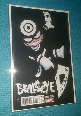 Bullseye #1 Skottie Young Baby Variant Cover Signed