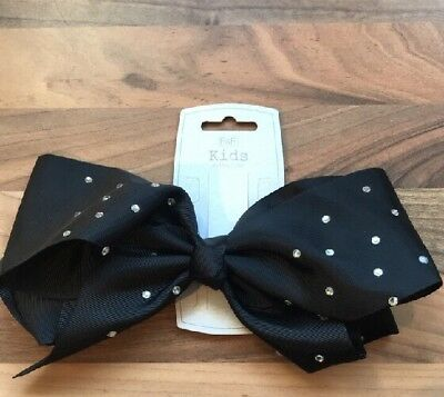 Large Diamonte Bow Hair Clip