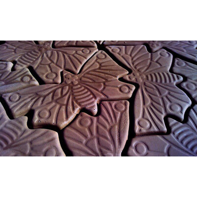 Rose and Butterfly Stepping Stone Plaster or Concrete Mold 1098 Moldcreations