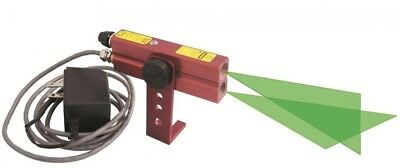 JOHNSON Cross Line Laser Level 110 Volt AC Green Industrial Alignment Beam ON