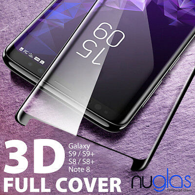 NUGLAS Galaxy S9 S8+ Note 9 8 Tempered Glass Full Cover Screen Protector Samsung