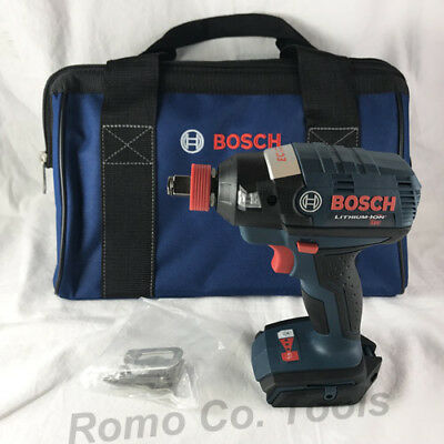 "BOSCH 18V Brushless Socket Ready 1/4"" Hex / 1/2"" SQ Impact & Bag (New From Kit)"